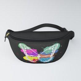 Grunge butterfly Fanny Pack