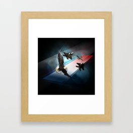 Cross into the Blue Framed Art Print
