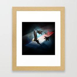 Cross into the Blue Framed Art Print