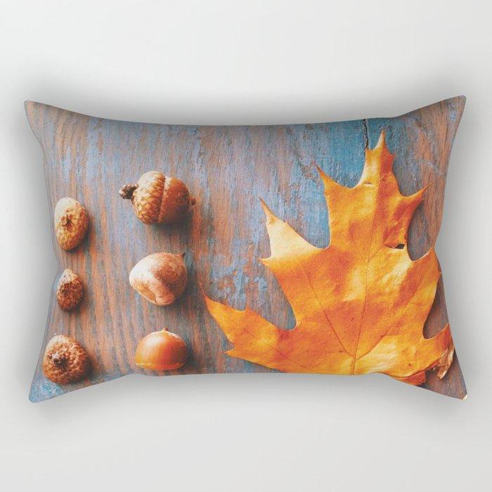 Little Autumn Acorns Rectangular Pillow