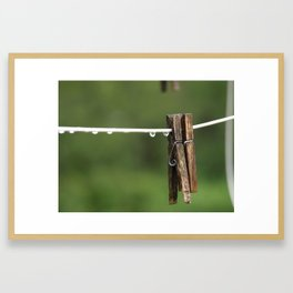 Just the two of us. Framed Art Print