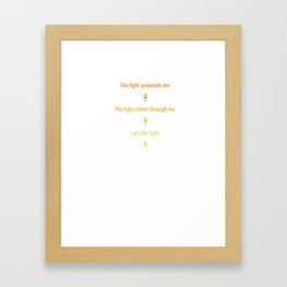 Ancient Egyptian Kemetic Light Words Premium T-Shirt Framed Art Print