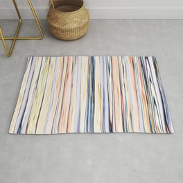 pastel abstract striped pattern Rug