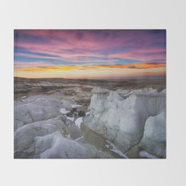 The Painted Mines Throw Blanket