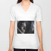 ripley V-neck T-shirts featuring Ripley from Aliens by Ashley Anderson