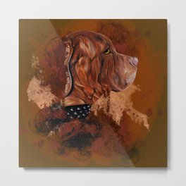 Dog drawing Metal Print