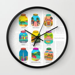Travel with Colors Wall Clock
