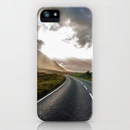 Sun rays in Scotland iPhone Case