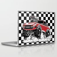1975 Laptop & iPad Skins featuring 280z GASSER by SCREAMNJIMMY