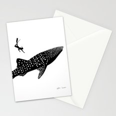 whaleshark dream Stationery Cards