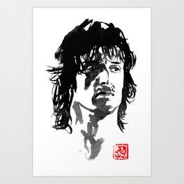john rambo Art Print