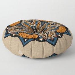 Butterfly Mandala Wall Art Floor Pillow