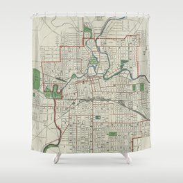 Vintage Map of Fort Wayne Indiana (1919) Shower Curtain