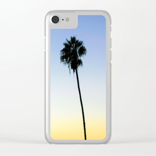 San Diego Palms Clear iPhone Case