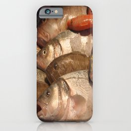 Variety of Fresh Fish Seafood on Ice 2 iPhone Case