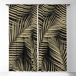 Palm Leaves - Gold Cali Vibes #2 #tropical #decor #art #society6 Blackout Curtain