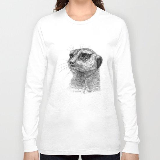 Meerkat-portrait G035 Long Sleeve T-shirt