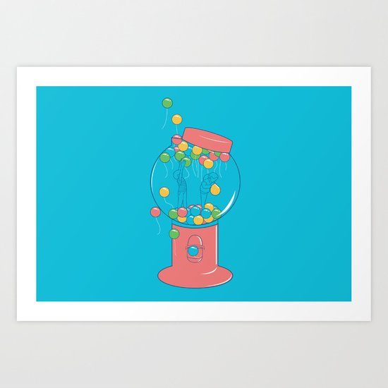 Balloon, Gumball Art Print
