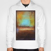 swimming Hoodies featuring Swimming by Liz Moran