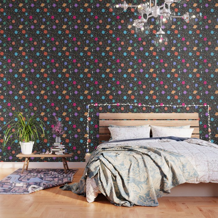 Astrology Pattern Wallpaper By Latheandquill