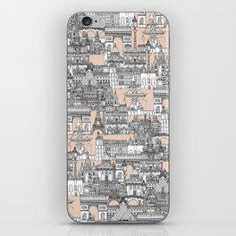 Paris toile sugar pink iPhone Skin