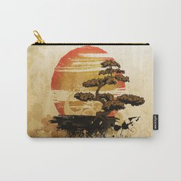Bonsai Tree In The Sunset Carry-All Pouch