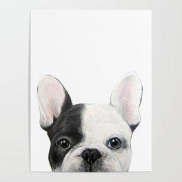 French Bulldog Dog illustration original painting print Poster