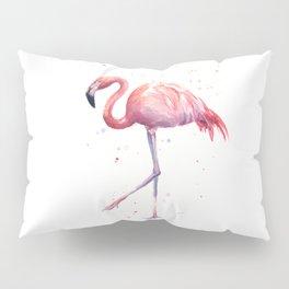 Flamingo Watercolor Pink Bird Pillow Sham