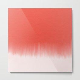 Soft red watercolor Metal Print