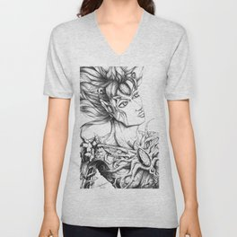 Twisted Beauty   Unisex V-Neck