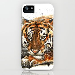 Tiger Wild and Free iPhone Case
