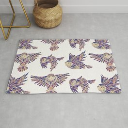 Owls in Flight – Mauve Palette Rug