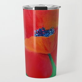 Single Poppy Travel Mug