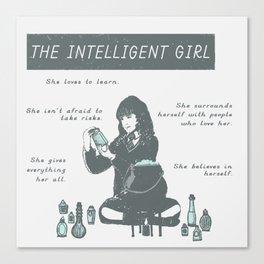 Hermione Granger / The Intelligent Girl Canvas Print