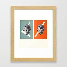 Double Up Judy Framed Art Print