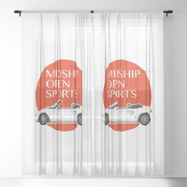 Midship Open Sports Sheer Curtain