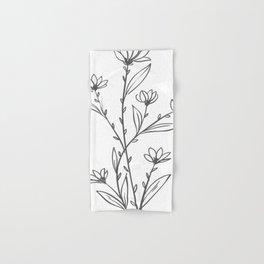 Line Art of Flowers 4 Hand & Bath Towel