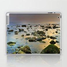 Green stones. Sea sunset Laptop & iPad Skin