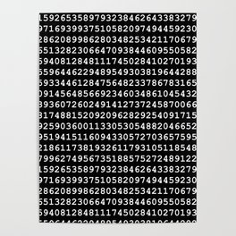 Pi on Black Poster