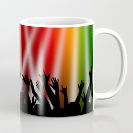 Dancing Crowd With Multi Colour and White Spotlights Coffee Mug