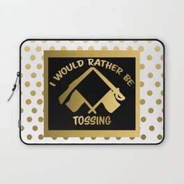 I'd Rather Be Tossing-Color Guard Design Laptop Sleeve