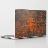 houston Laptop & iPad Skins featuring Houston map by Map Map Maps