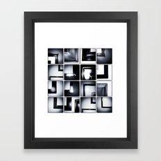Grid #6 (Frames) Framed Art Print