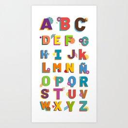 Alphabet w/ Ñ Art Print