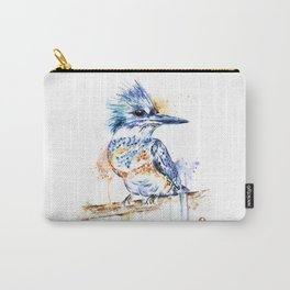 Kingfisher Colorful Watercolor Bird Painting Carry-All Pouch