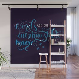 Words Are Magic Wall Mural