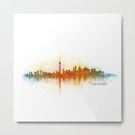 Toronto Canada City Skyline Hq v03 Metal Print