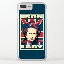 Margaret Thatcher Iron Lady Pop Art Clear iPhone Case