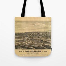 Aerial View of Los Angeles, California (1877) Tote Bag