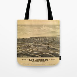 Aerial View of Los Angeles, California (1877) Tote Bag